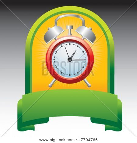 alarm clock in green display