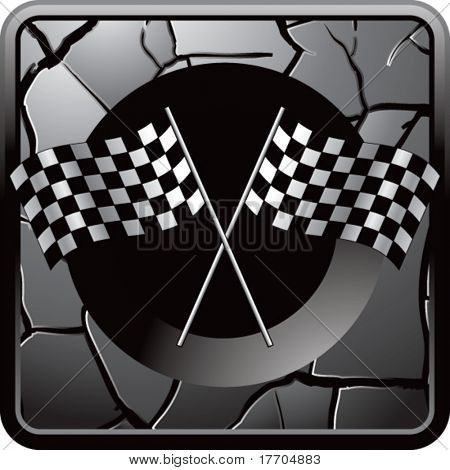 racing flags on interesting web button