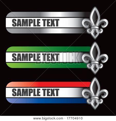 fleur de lis symbol on specialized banners
