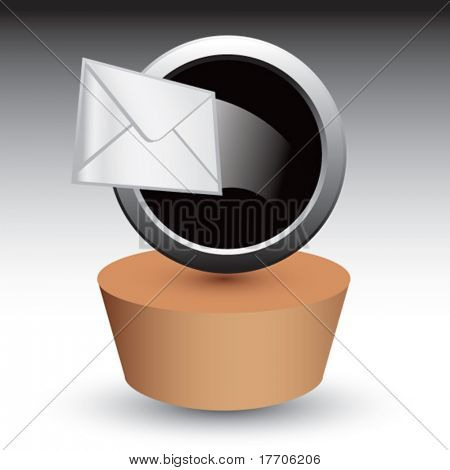 letter coming out of hole