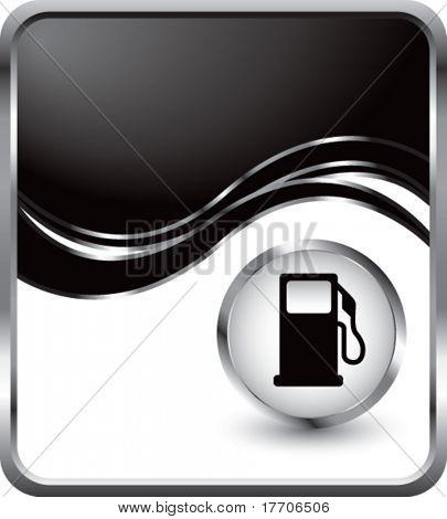 gas pump under black wave background