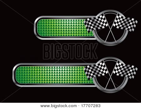 racing flags on diamond textured banners