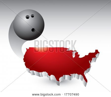 bowling ball flying across america