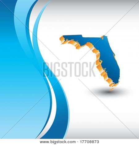 florida state shape on vertical blue wave