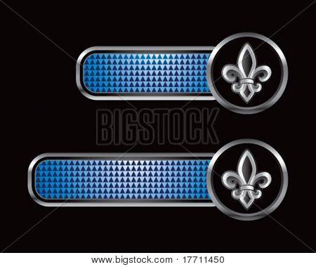 fleur de lis on blue checkered tabs