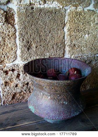 Garnets in the vase