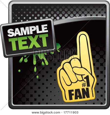 fan hand black halftone grungy template