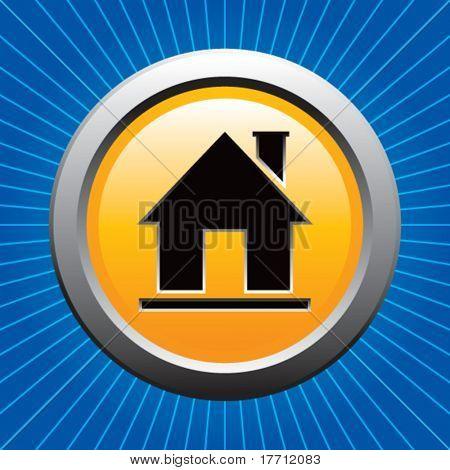 home icon blue starburst