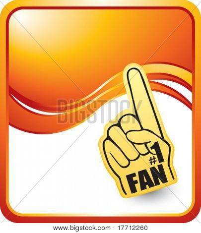 fan hand orange wave background