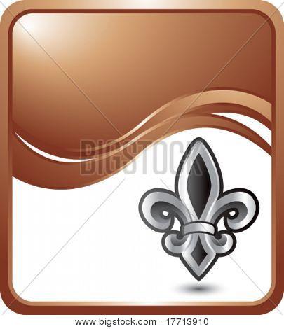 fleur de lis bronze wave background