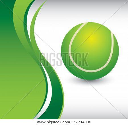 tennis ball vertical green wave