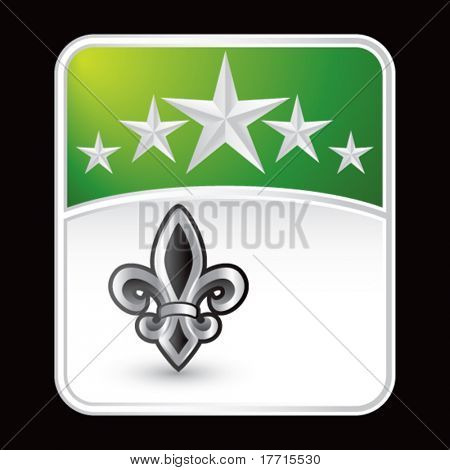 fleur de lis green star background