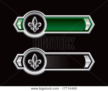 fleur de lis green and black arrows