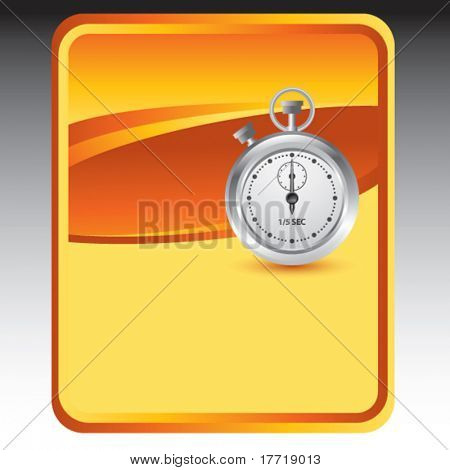 stop watch orange background