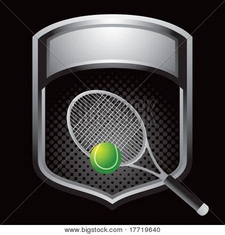 tennis racket on silver display
