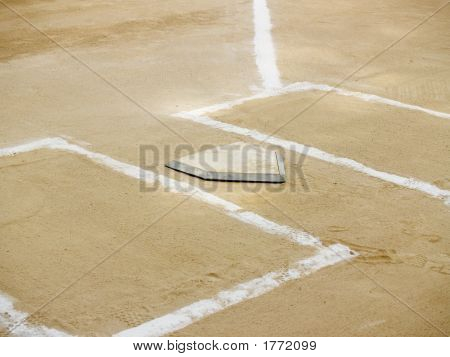 Home Plate And Batter'S Boxes
