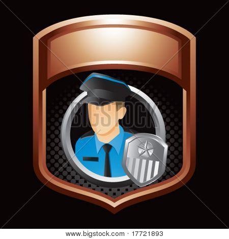 policial bronze brilhante exibição