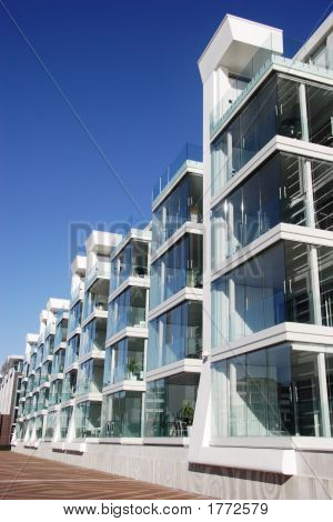 Waterfront Aparment Complex In Auckland