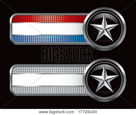 silver star on striped banners
