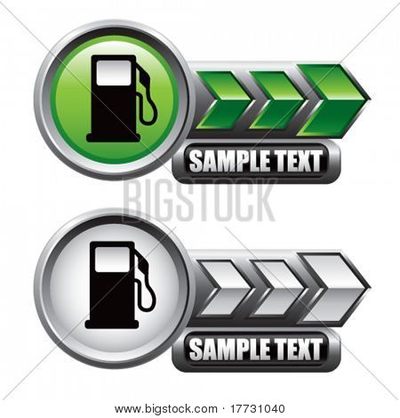 gas pump icon green and white arrow nameplates