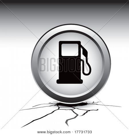 gas pump icon cracked ground