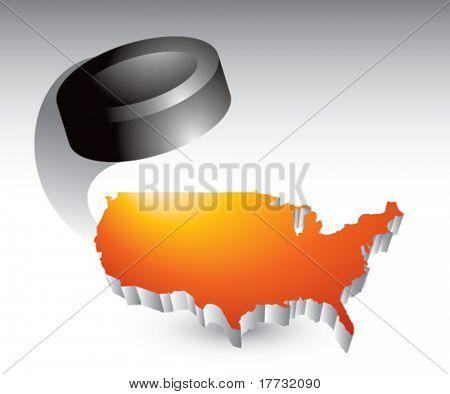 hockey puck orange united states icon