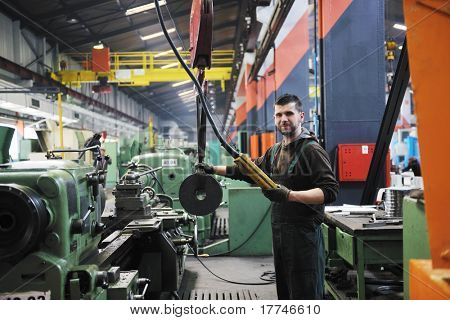 engineering people manufacturing industry with big modern computer machines i company  hall