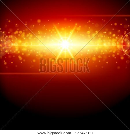 Abstract light with lens effect vector background. Eps 10.