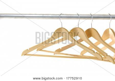 Coat hangers on a clothes rail