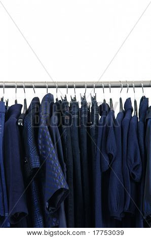 colorful  clothing hanging as display