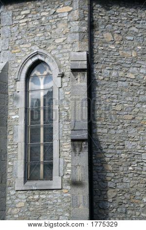 Window, Buttress & Stone Wall
