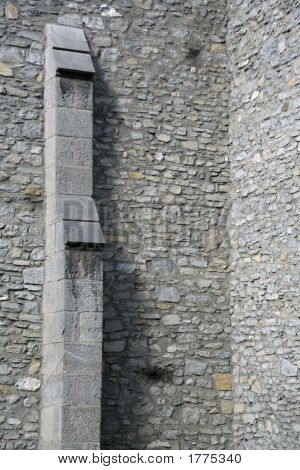Buttress And Stone Wall