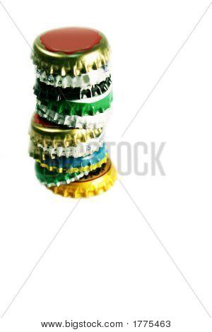 Stack Of Beer Caps