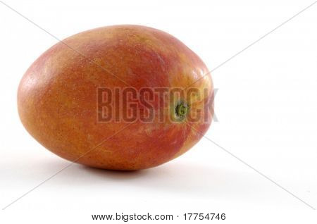 Fresh tropical mango fruit, isolated on whit