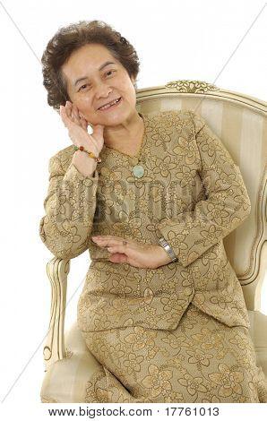 Asian senior lady