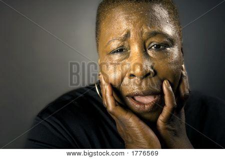 Grieving Black Woman
