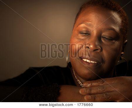 Black Woman At Peace