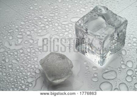 Melting Ice On White Background (2)