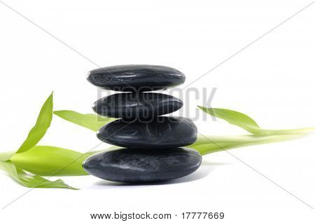 Massage Stones with bamboo-spa treatment