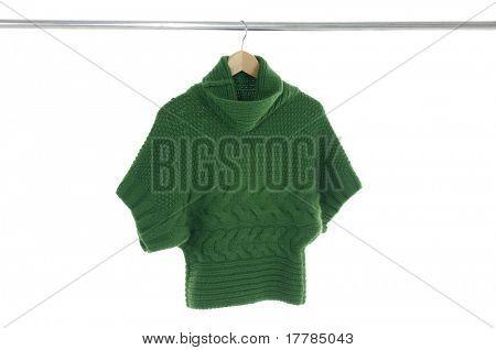 Close up clothing hanging as display