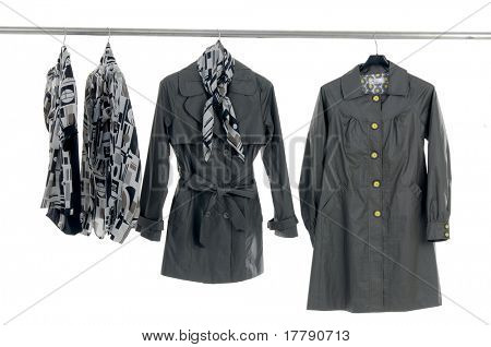 Fashion autumn/winter clothes rack display