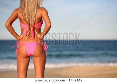 Sexy Blond On Beach