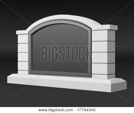 Monument stone sign. Vector illustration Eps 10.