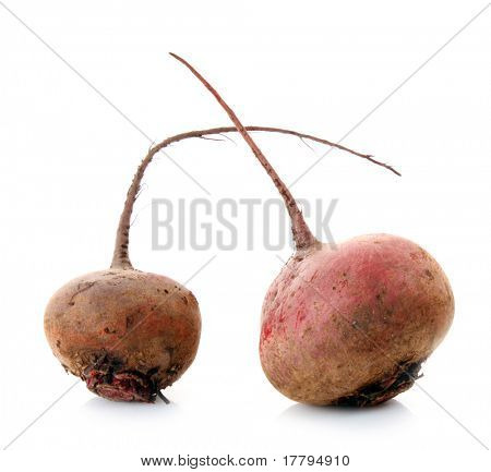 Two beet isolated on white