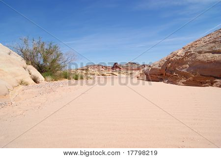 Sandy Gully in Valley of Fire