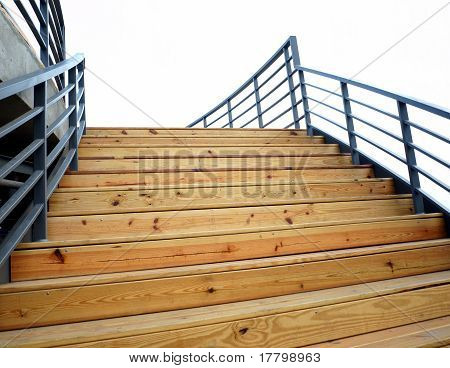Wooden Staircase To The Sky