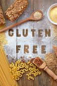 Gluten Free Flour And Cereals Millet, Quinoa, Corn Flour Polenta, Brown Buckwheat, Basmati Rice And poster