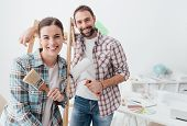 Creative Couple Renovating Their House poster