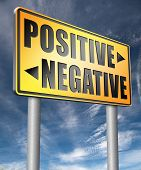 positive or negative optimism or pessimism bright side of life positivity and no negativity  3D, ill poster