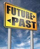 past future predict and forecast near future fortune telling and forecast evolution and progress roa poster